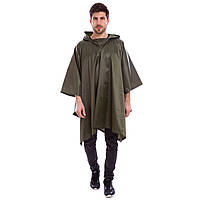 Дождевик пончо плащ-палатка Защита от дождя и ветра Водоотталкивающий нейлон ZELART Оливковый (TY-6309)