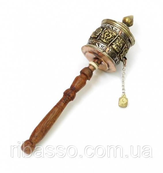 9070316 Молитвенный барабан на ручке медь + латунь