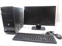 """Компьютер в сборе, Core i5-650\660, 4 ядра по 3.46 ГГц, 16 Гб ОЗУ DDR3, HDD 500 Гб, Видео 2 Гб, мон19"""" /16:9/, фото 1"""