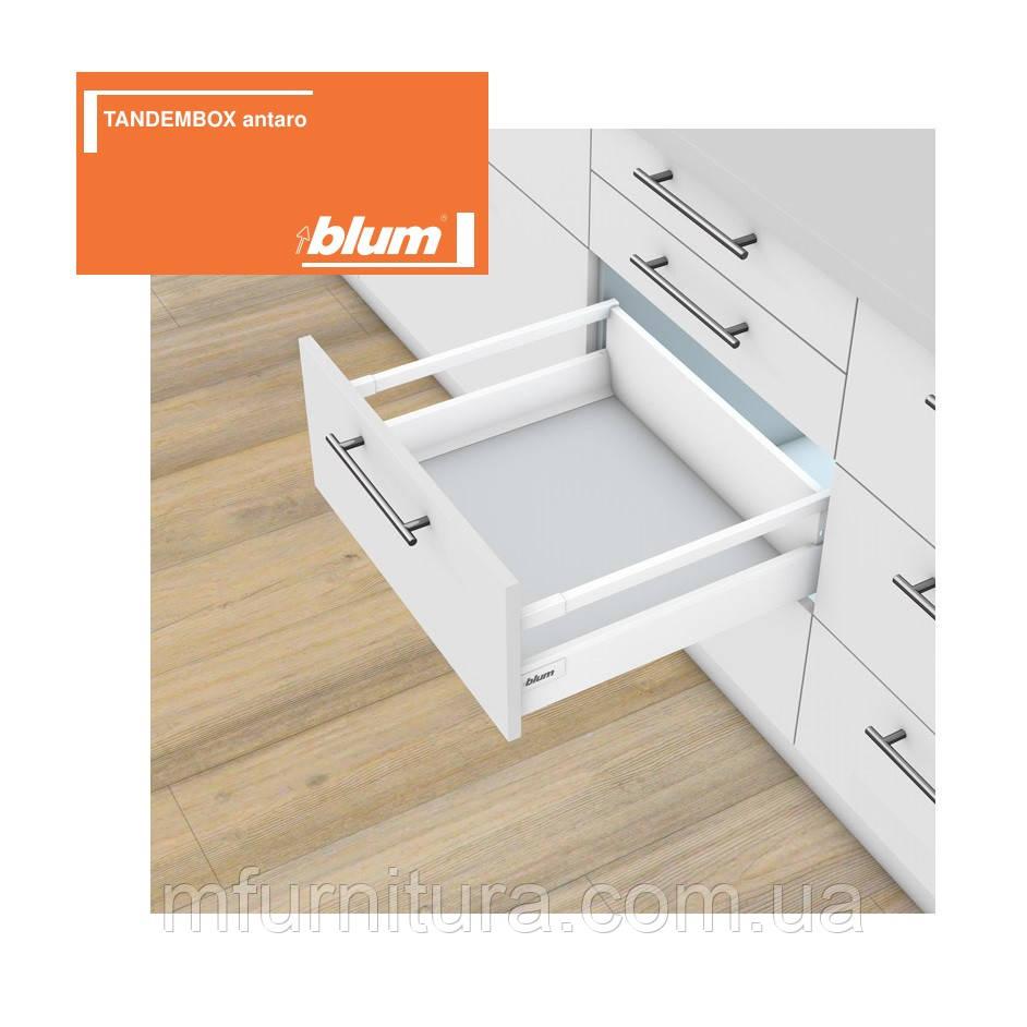TANDEMBOX antaro, 350 мм, D(204.3)(низкий), белый с релингом / blum (Австрия)