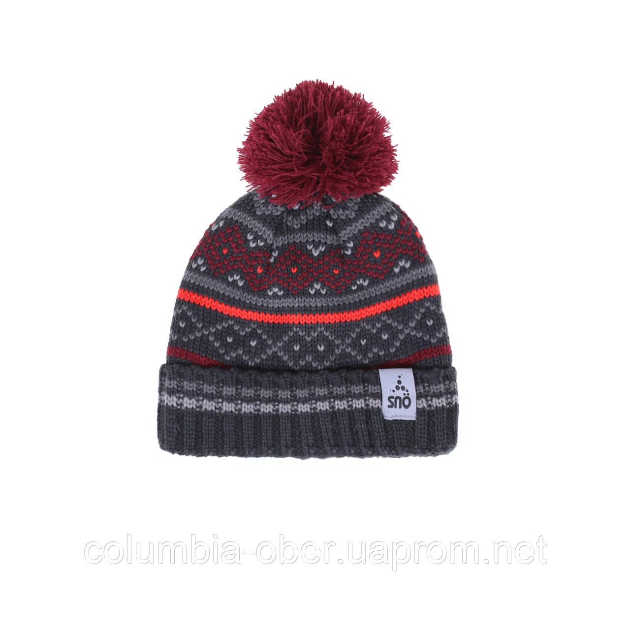 Зимняя шапка для мальчика SNO F18TU313 CARNET RED. Размер 54/56.