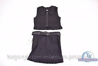 Костюм школьный для девочки (цв.чёрный) MILES 1411-B Рост:134,140,146,152