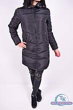 Куртка женская из плащёвки зимняя (цв.чёрный) X-P-H 9622 Размер:48