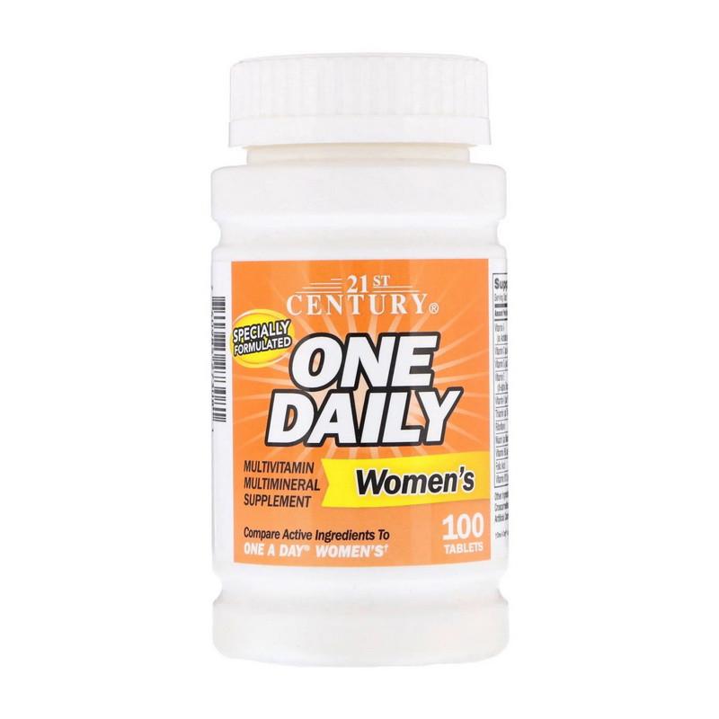 Вітаміни 21st Century One Daily Multivitamin for Womens 100 tabs