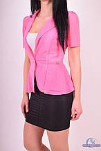 Пиджак женский  (сетка ) цв.розовый 6016 Размер:46