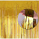Шторка фольга для фотозоны 1х2 метра (золото), фото 3