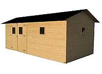 Садовый дачный домик для инвентаря с окнами, деревянный гараж для автомобиля, техники