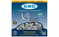 Цепь велосипедная KMC X9-EPT 1/2х11/128х116L