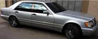 Защита окон дефлекторы, ветровики для Mercedes Benz 140 \ Мерседес 140  (CT248AB70 3M)