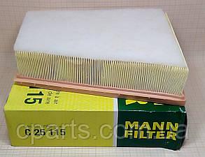Воздушный фильтр Renault Fluence 1.5 DCI, 1.6 16V, 2.0 16V (Mann C25115)(высокое качество)