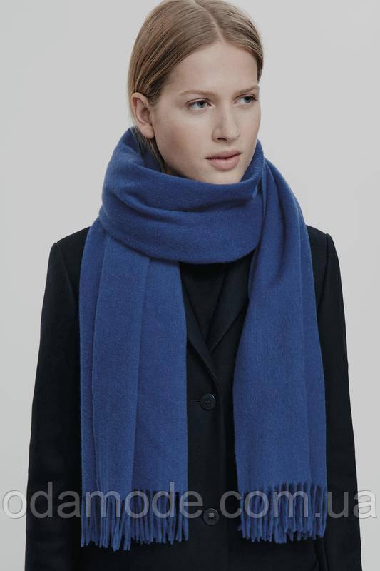 Шарф женский синий шерстяной COS