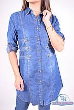 Рубашка  женская котоновая (цв.т/синий) Madoy 4090 Размер:42