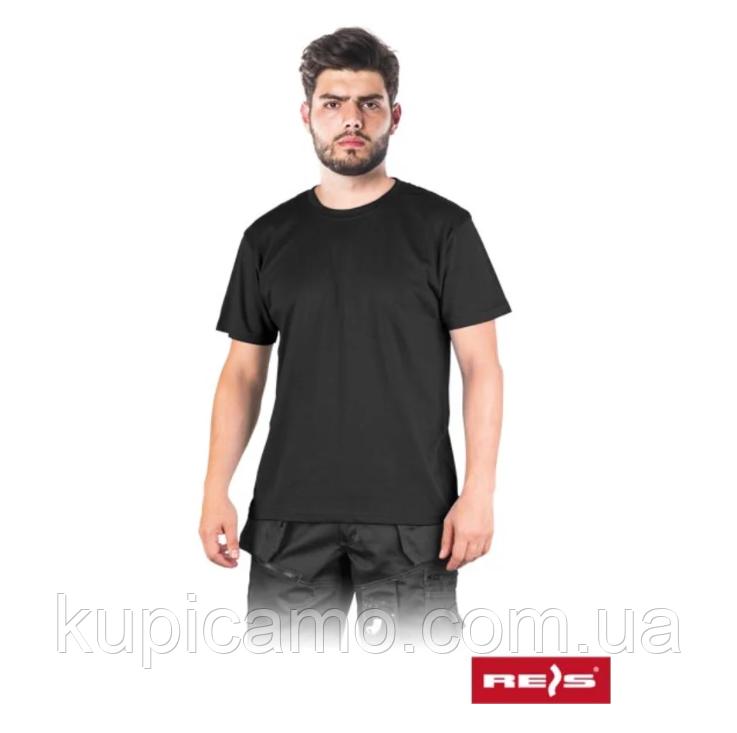 """Рабочая футболка 100% cotton """"REIS"""" Польша ( черная)"""