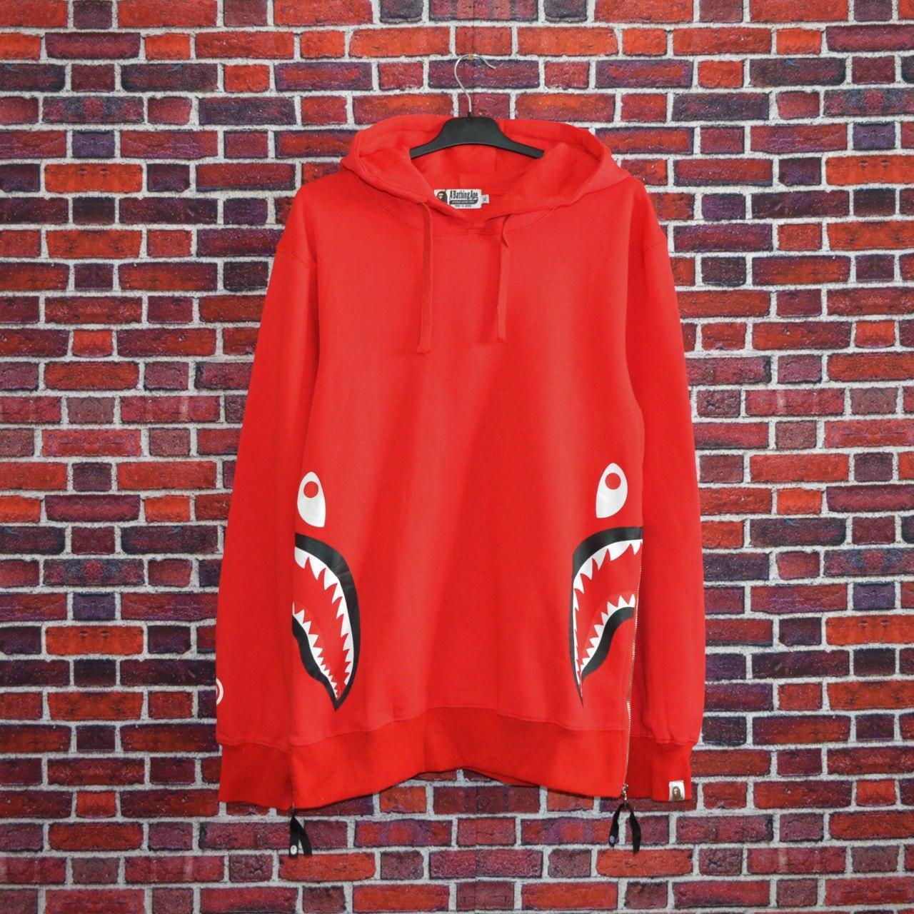 Худи Bape WGM Zip red