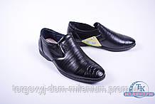 Туфли для мальчика (цв.черный) из кожезаменителя DO-17107 Размер:35