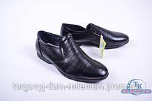 Туфли для мальчика (цв.черный) из кожезаменителя DO-17103 Размер:34,35,36