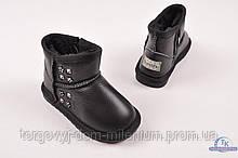 Уги для девочки кожаные(цв. черный) Bumishu 121-13A Размер:22