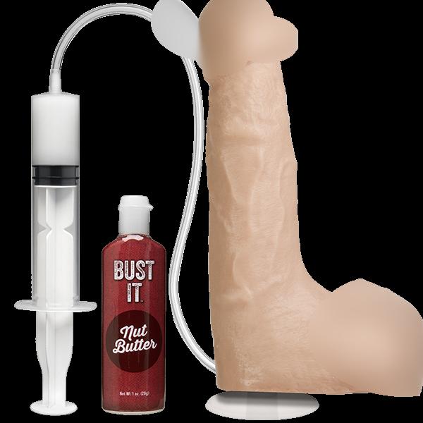 Фаллоимитатор с имитацией семяизвержения  Doc Johnson Bust It Squirting Realistic Cock