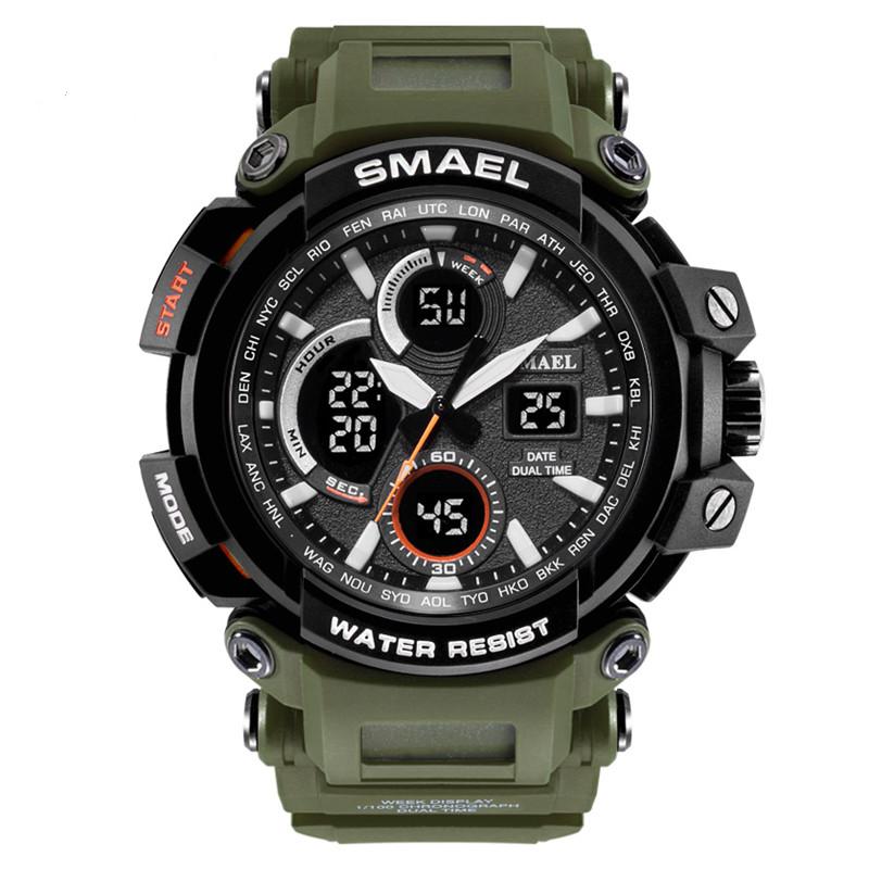 Smael 1708 зелені чоловічі спортивні годинник