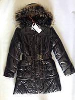 Пальто на девочку черное зимнее