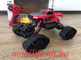 Великий Червоний Monstr Джип 28см Всюдихід Зі Змінними Колесами/Акумулятор/