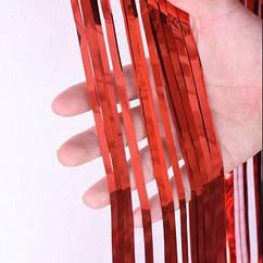 Шторка фольга для фотозоны 1х2 метра (красная)