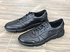 Кожаные кроссовки мужские весна-осень 1724 ч/к EXTREM размеры 40-45
