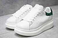 Кроссовки женские 14753, Alexander McQueen Oversized Sneakers, белые, < 37 > р.37-22,6