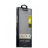 Внешний аккумулятор Power Bank Aspor A382 10500 mAh (Повер банк Аспор) Black