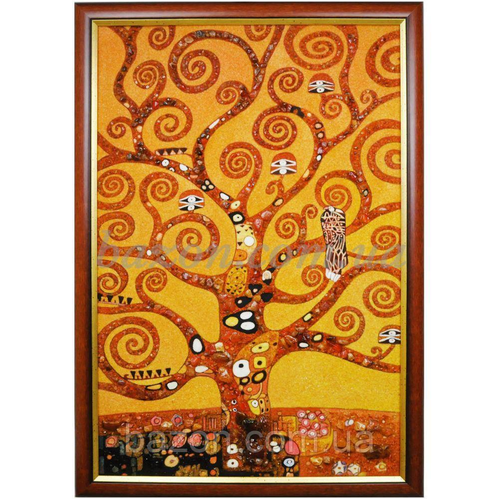 """Панно из янтаря """"Г. Климт. Дерево жизни"""""""