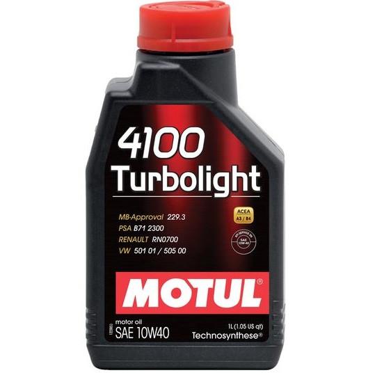 Масло моторное Technosynthese д/авто MOTUL 4100 Turbolight SAE 10W40 1л. 102774/387601