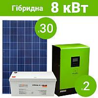 """Гібридна сонячна електростанція """"Прогресивна"""" 8 кВт"""
