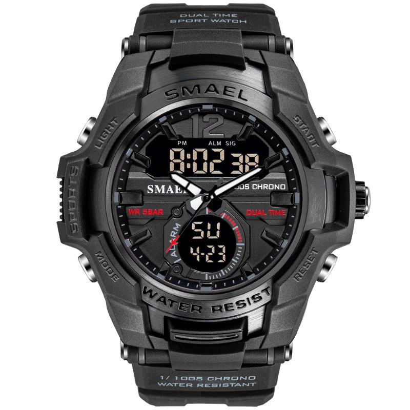 Smael SANDA 1805 черные мужские спортивные  часы