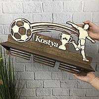 Именная медальница из дерева «Футбол», фото 1
