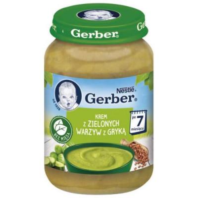 Gerber. Суп-пюре с зелеными овощами и гречкой 190г. 7 мес+