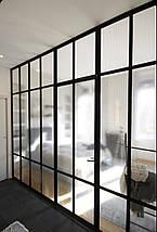 Перегородки из алюминия  в стиле лофт  Стеклянные двери LOFT Распашные, раздвижные, стационарные системы, фото 3