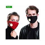 Защитная маска фильтр с активированным углем MP2.5 с клапаном выдоха, 5 СЛОЕВ ЗАЩИТЫ, фото 7