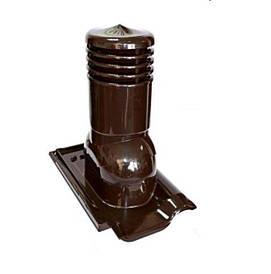 Проходная вентиляционная черепица KRONO-PLAST  модель Creaton Titania цвет коричневый