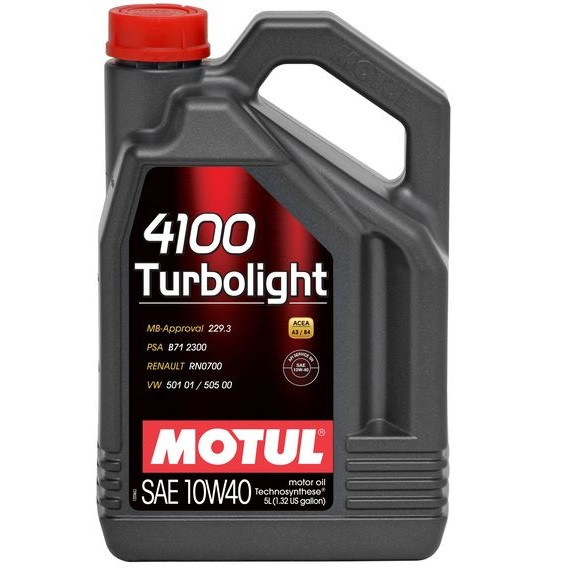 Масло моторное Technosynthese д/авто MOTUL 4100 Turbolight SAE 10W40 5л. 100357/387606