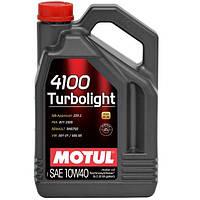 Масло моторне Technosynthese д/авто MOTUL 4100 Turbolight SAE 10W40 5л. 100357/387606