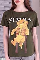 """Футболка жіноча Simba мод: 882 (42, 44, 46, 48) """"VILADI"""" недорого від прямого постачальника, фото 1"""