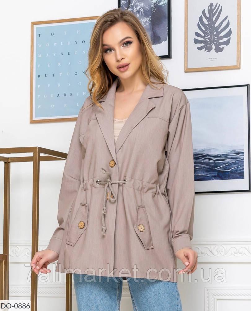 """Пиджак женский удлиненный модель: 839 (42, 44, 46, 48) """"VILADI"""" недорого от прямого поставщика"""