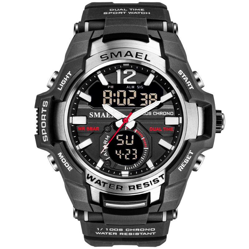 Smael sanda 1805 серебристые мужские спортивные  часы