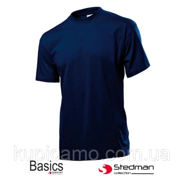 """Профессиональная рабочая футболка 100% cotton """"STEDMAN"""" Германия (синяя)"""
