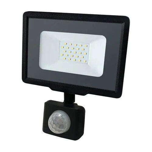 Светодиодный Led Прожектор Biom S5 20W с датчиком движения 220V 6200K IP65