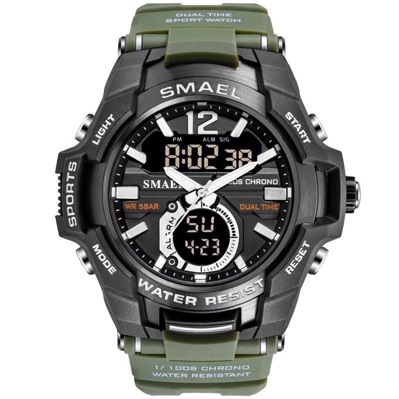 Smael SANDA 1805 зеленые мужские спортивные  часы