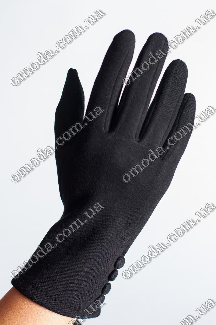 Женские стрейчевые перчатки 4 пуговицы