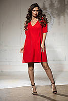 Вільне плаття з коротким рукавом, з V-подібним вирізом (46-52), фото 1