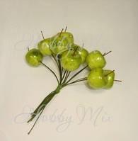 Яблочки зеленые на проволочке 5 шт.