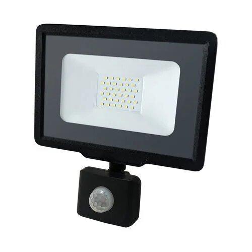Светодиодный Led Прожектор Biom S5 30W с датчиком движения 220V 6200K IP65